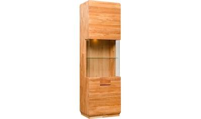 andas Vitrine »Freyr«, aus massivem Eichenholz und Push-To-Open-Funktion, inklusive einer Hintergrundbeleuchtung, Breite 60 cm kaufen
