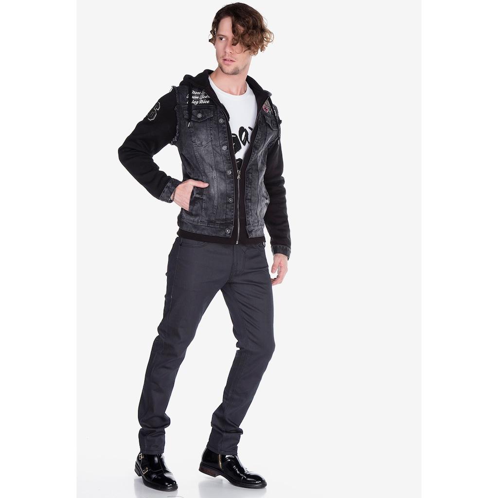 Cipo & Baxx Jeansjacke, im Doppeljacken-Style