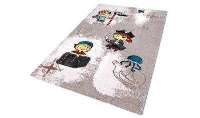 Festival Kinderteppich »Momo Pirat«, rechteckig, 13 mm Höhe, Seeräuber und Piraten Motiv kaufen