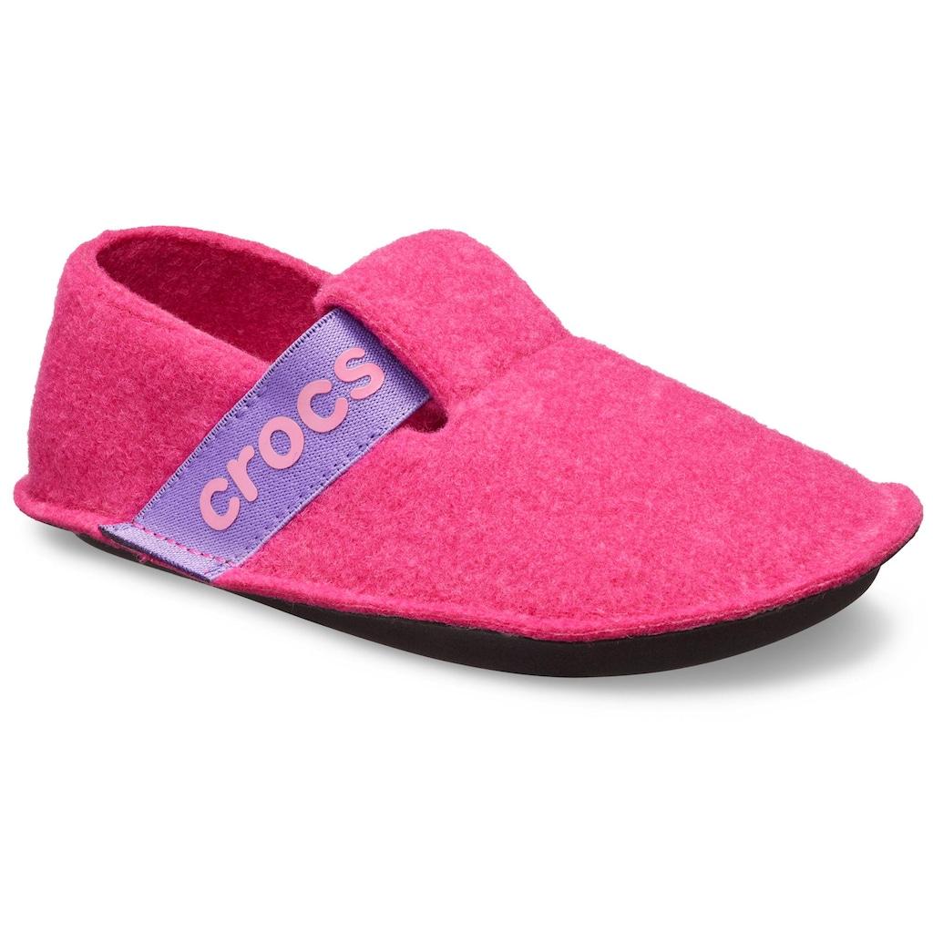 Crocs Hausschuh »Classic Slipper«, mit cooler Logoapplikation