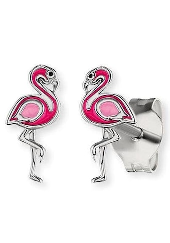 Herzengel Paar Ohrstecker »Flamingo, HEE-FLAMINGO-ST«, mit Emaille kaufen