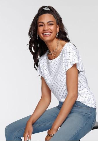 AJC T-Shirt, mit coolem Allover-Druck im Retro-Look - NEUE KOLLEKTION kaufen