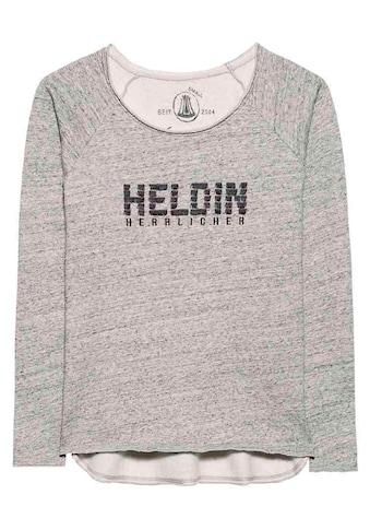 Herrlicher Sweatshirt mit cooler Statement-Stickerei kaufen