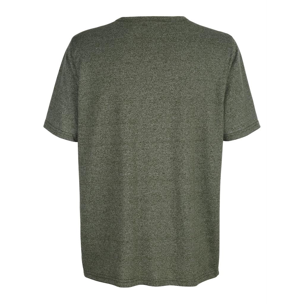 Roger Kent T-Shirt mit Rundhals und Knopfleiste