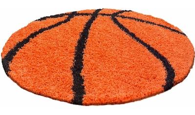 Ayyildiz Kinderteppich »Fun 6002«, rund, 30 mm Höhe, Motiv Basketball, Kinder- und... kaufen