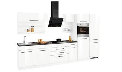 HELD MÖBEL Küchenzeile »Tulsa«, ohne E-Geräte, Breite 330 cm, schwarze Metallgriffe,... kaufen