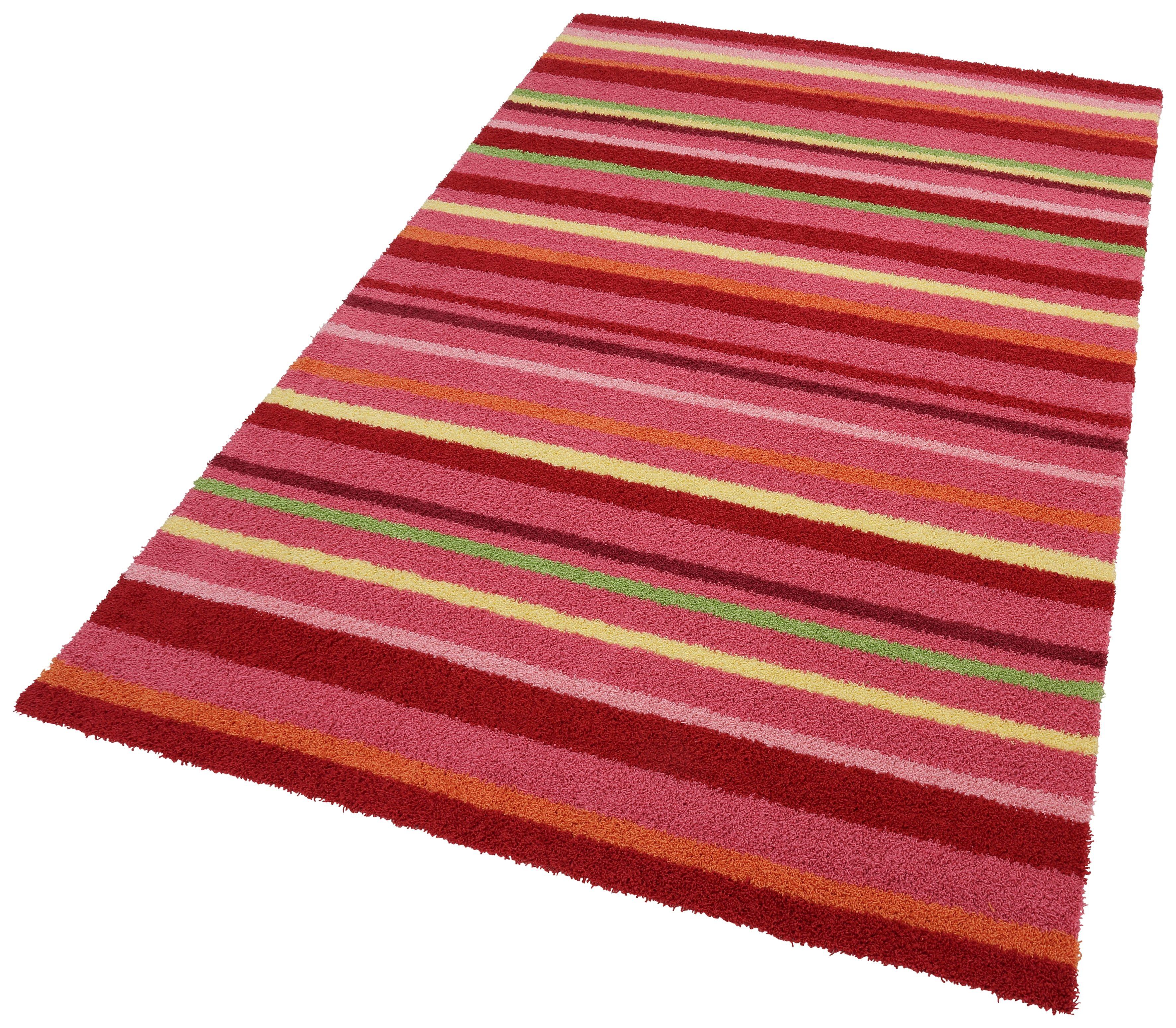Kinderteppich Bunte Streifen Esprit rechteckig Höhe 15 mm handgetuftet