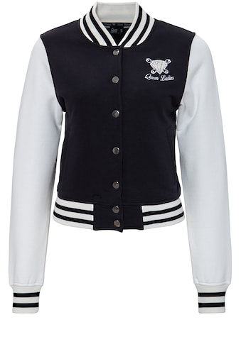 QueenKerosin Collegejacke, mit Frottier-Stickerei kaufen