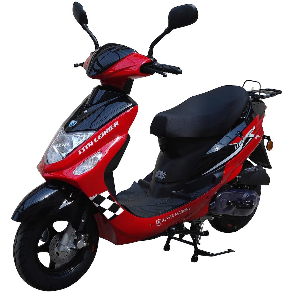Alpha Motors Motorroller »CityLeader«, 2,5 PS, 50 ccm, 45 km/h, rot