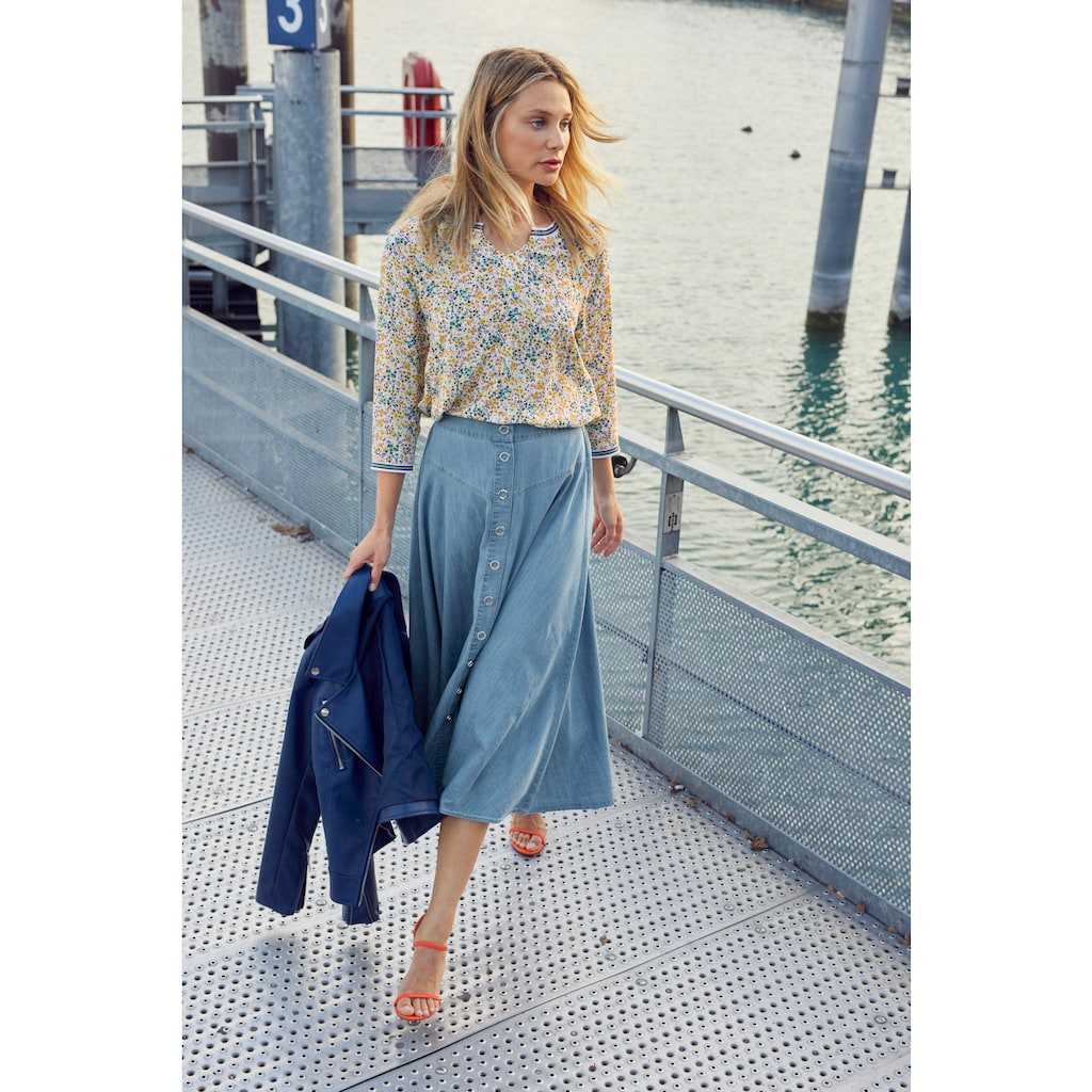 Aniston CASUAL Sommerrock, im Denim-Look - NEUE KOLLEKTION