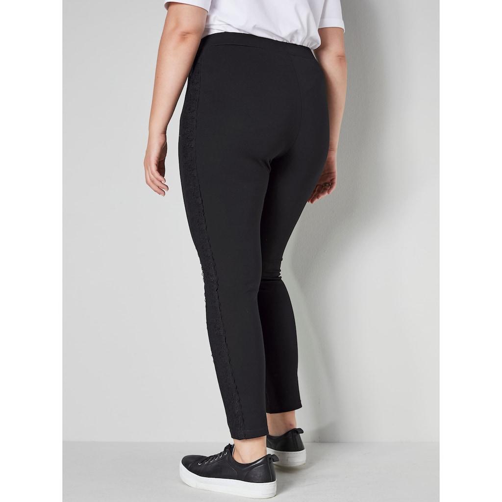 Sara Lindholm by HAPPYsize Leggings, mit seitlichem Dekoband
