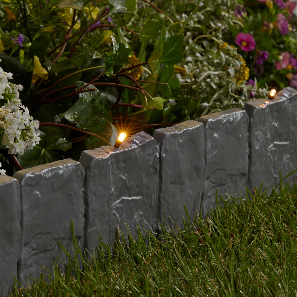 Rasenkante »LED-Stone«, mit fester LED Lichterkette