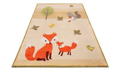Esprit Kinderteppich »E-Fox«, rechteckig, 9 mm Höhe, besonders weich, Motiv Fuchs kaufen
