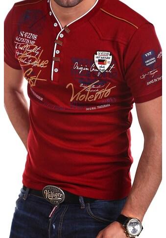 behype T-Shirt »GLOBAL«, mit lässigem V-Ausschnitt kaufen