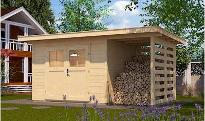 WEKA Set: Gartenhaus »179A Gr.2«, BxT: 430x311 cm, Anbaudach mit Seiten -  & Rückwand, Fußboden kaufen