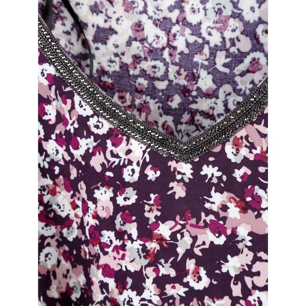 Dress In Tunika mit floralem Dessin