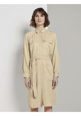 TOM TAILOR Sommerkleid »Kleid mit Bindegürtel« kaufen
