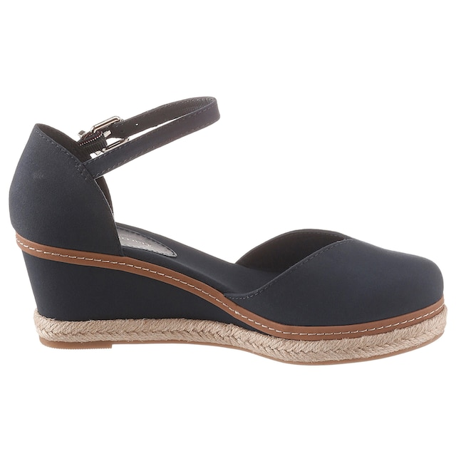 TOMMY HILFIGER Spangenpumps »BASIC CLOSED TOE MID WEDGE«
