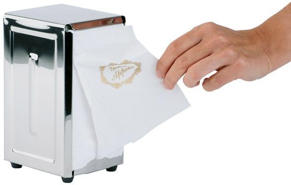 APS Serviettenhalter, hochglanz, mit Antirutsch-Füßen silberfarben Tischaccessoires SOFORT LIEFERBARE Haushaltswaren Serviettenhalter
