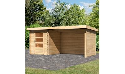KONIFERA Set: Gartenhaus »Schloßsee 1«, BxT: 509x273 cm, mit Anbau inkl. Seiten -  und Rückwand kaufen