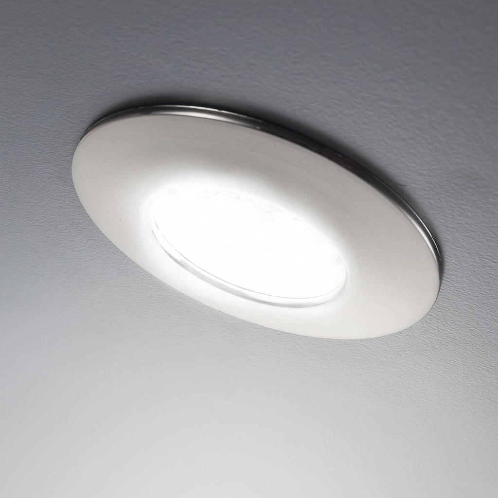 B.K.Licht LED Einbauleuchte »Iris V«, LED-Board, 5 St., Warmweiß, LED Einbaustrahler dimmbar ultra flach (30mm) inkl. 5W 470 Lumen LED-Modul Badspot
