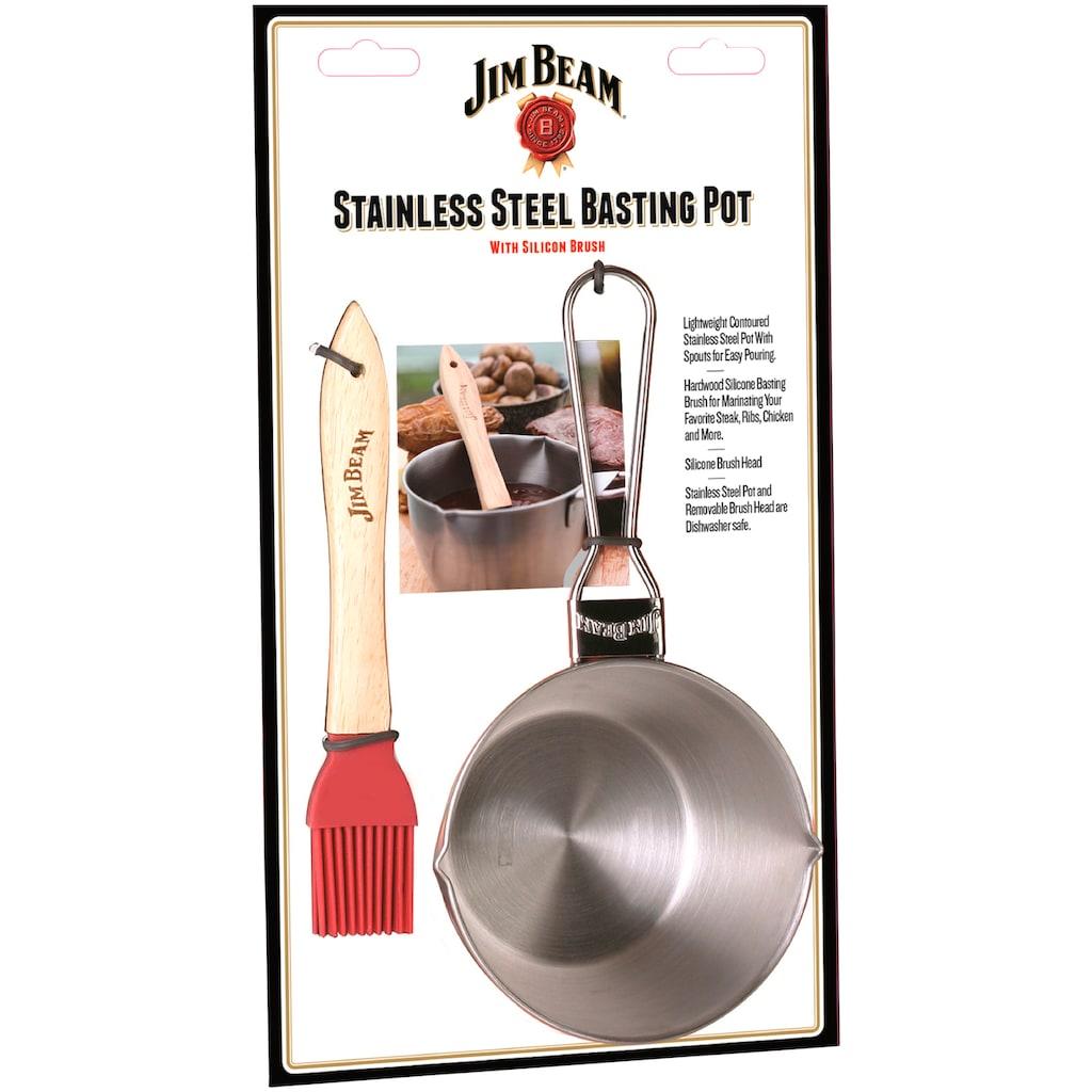 Jim Beam BBQ Sauteuse, Edelstahl, inkl. Pinsel