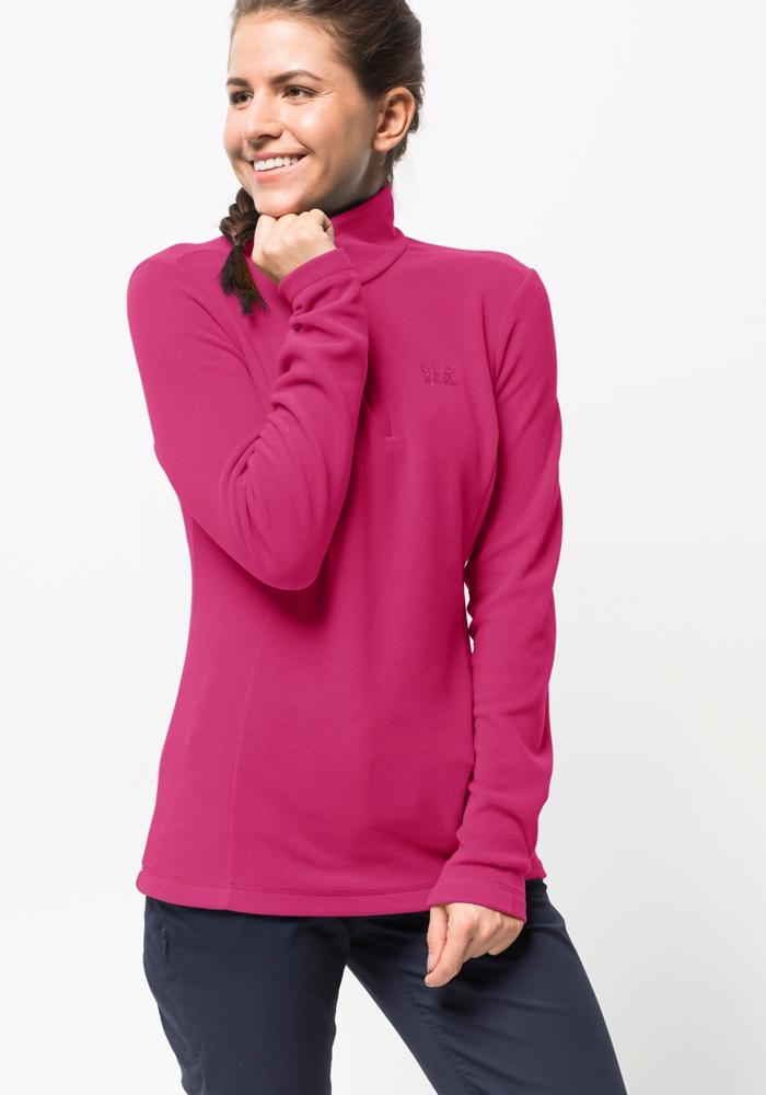 Jack Wolfskin Stehkragenpullover ARCO WOMEN | Bekleidung > Pullover > Stehkragenpullover | Rosa | Jack Wolfskin