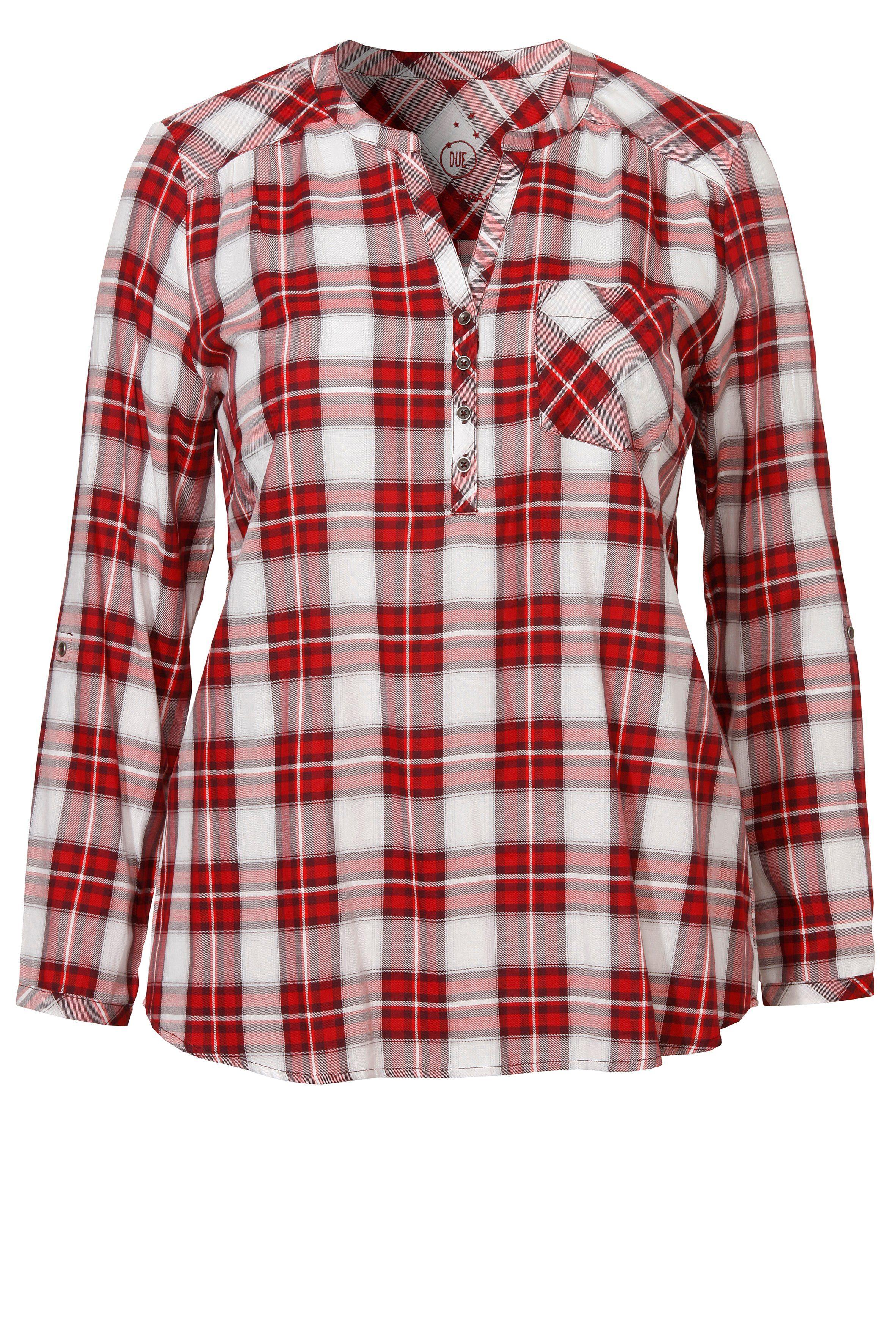 VIA APPIA DUE Süße Bluse mit Karo-Muster