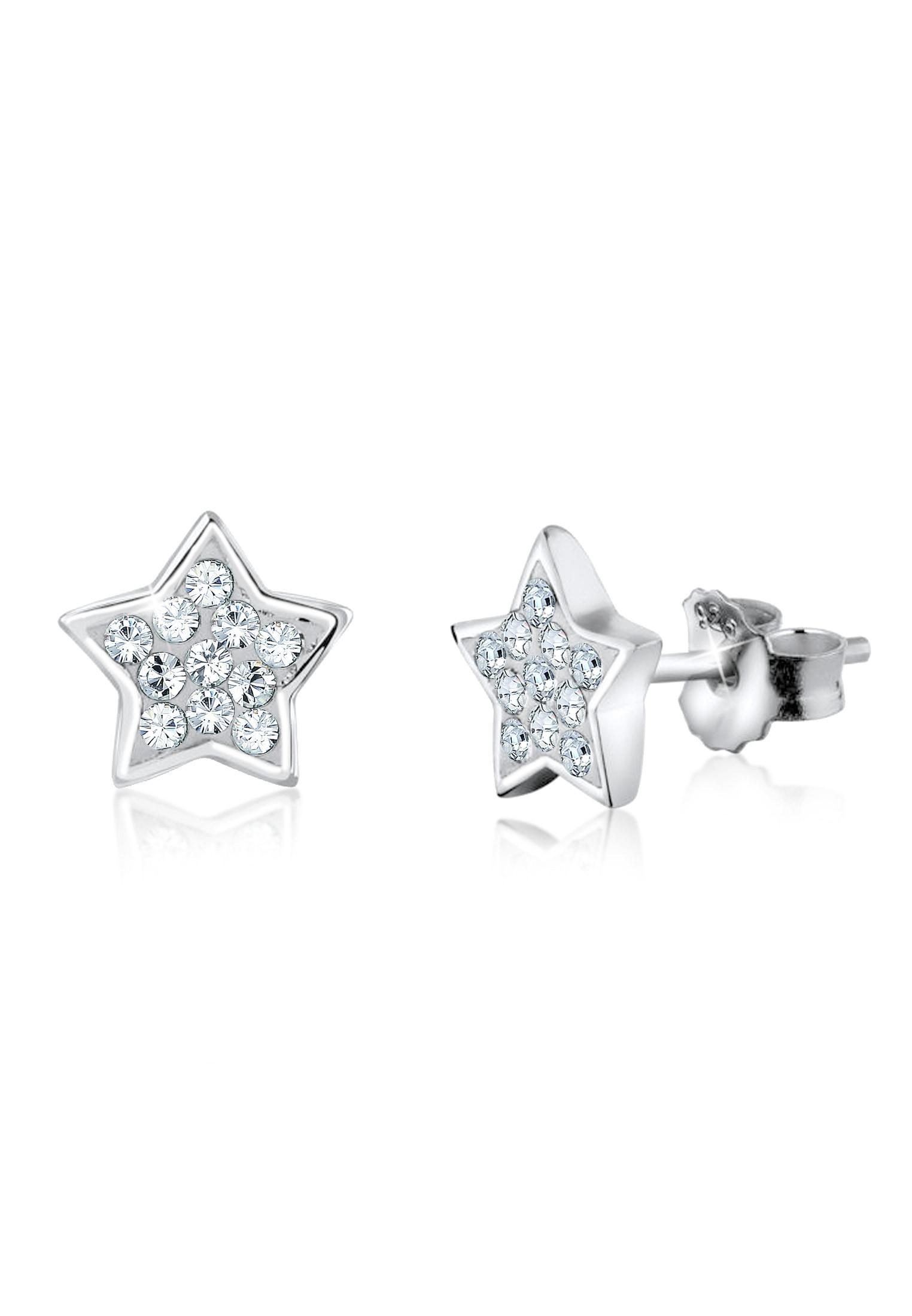 Nenalina Paar Ohrstecker Stern Ohrstecker Swarovski Kristalle 925 Silber | Schmuck > Ohrschmuck & Ohrringe > Ohrstecker | Nenalina