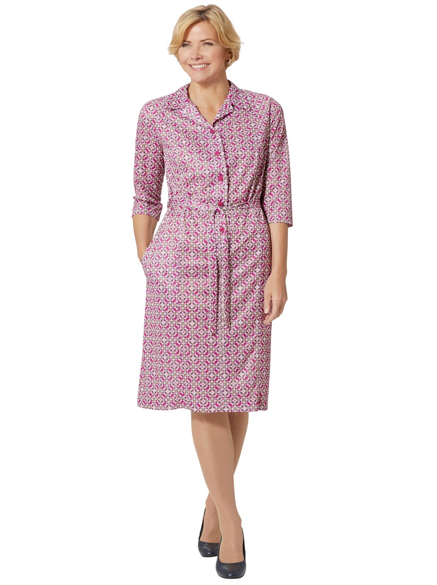 Classic Basics Jersey-Kleid mit Reverskragen