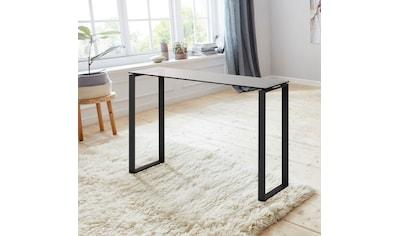 andas Konsolentisch »Karolina«, mit einer schönen Glastischplatte und einem Metallgestell, Höhe 76 cm kaufen