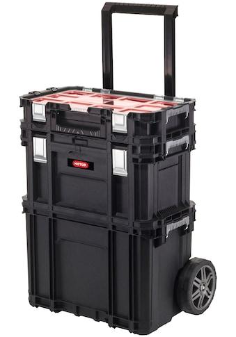 """Keter Werkzeugtrolley »Rolling«, 3-teiliges System, 7"""" Gummiräder, Teleskopgriff, mit Connect Werkzeugkasten & Connect Sortimentskasten kaufen"""
