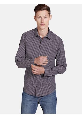 SHIRTMASTER Langarmhemd »nolumberjackhere«, mit zwei Kontrasten veredelt kaufen