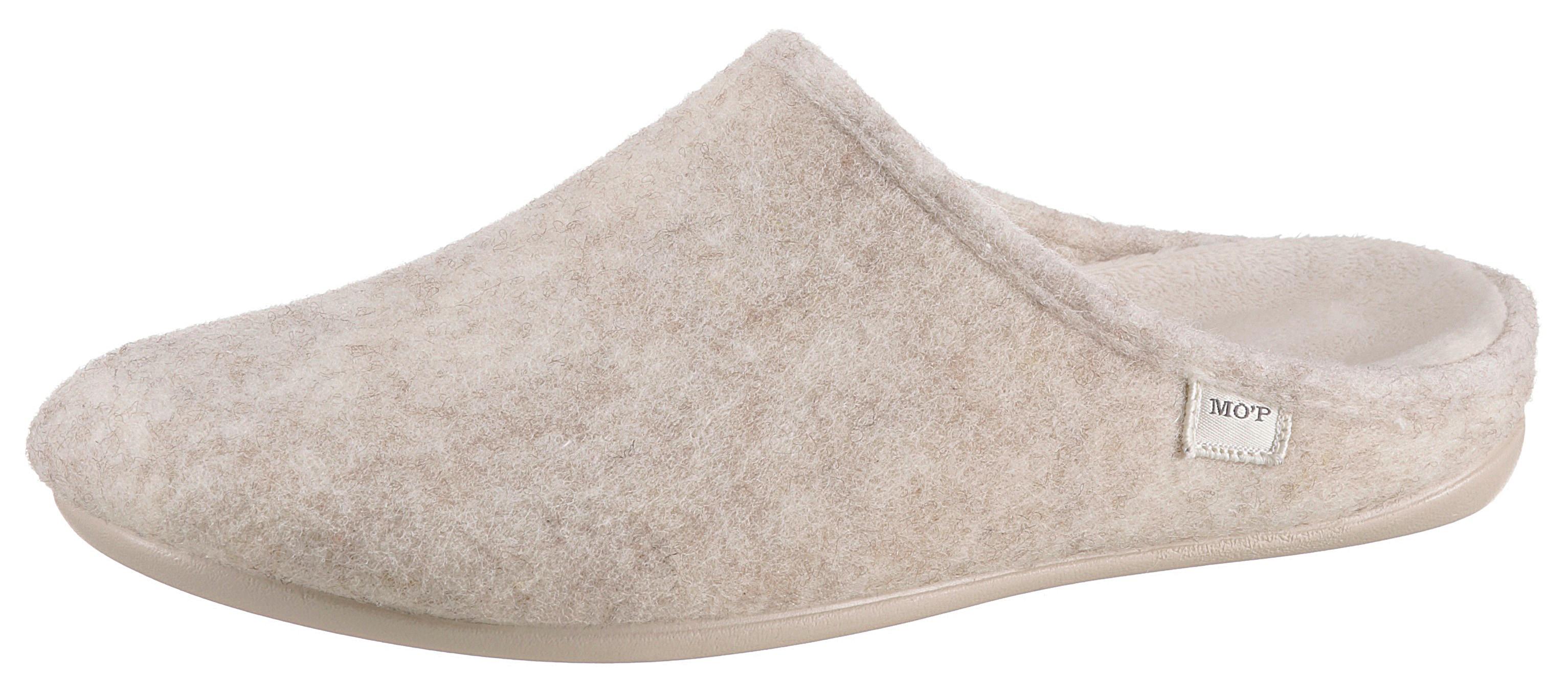 Marc O'Polo Hausschuh beige Damen Filzhausschuhe Hausschuhe Schuhe