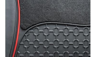 Walser Universal-Fußmatten »Royal«, Kombi/PKW, (Set, 4 St.), mit roter Umrandung kaufen