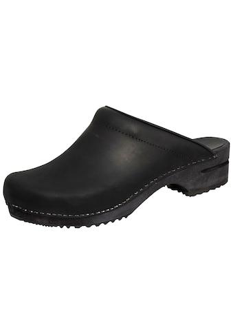 Clog »1200009M-2«, Sanita Herren Clog offen schwarz kaufen