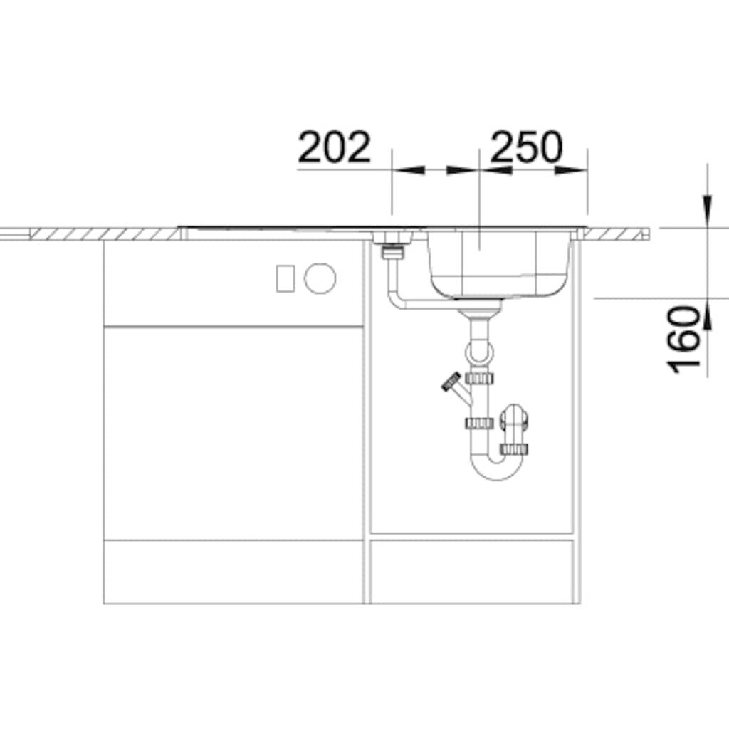 Blanco Küchenspüle »LANTOS 5 S«, inklusive 1 Edelstahleinsatz