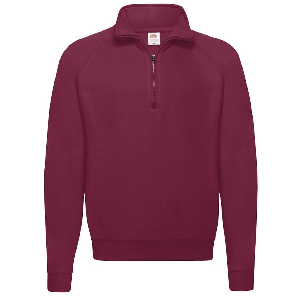 Fruit of the Loom Stehkragenpullover »Sweatshirt / Pullover mit Reißverschluss«