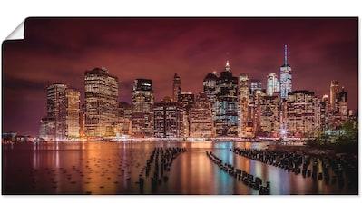 Artland Wandbild »New York City Impression bei Nacht« kaufen
