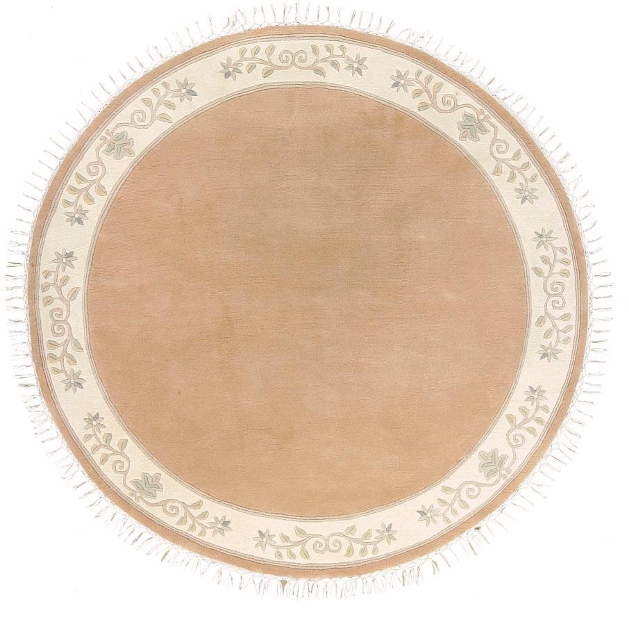 Wollteppich, »Adour«, LUXOR living, rund, Höhe 18 mm, manuell geknüpft | Heimtextilien | Orange | LUXOR LIVING