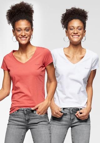 NEU XL Kurzarm weiß mit Aufdruck Pepe Jeans Shirt Kurzarmshirt Gr L 049