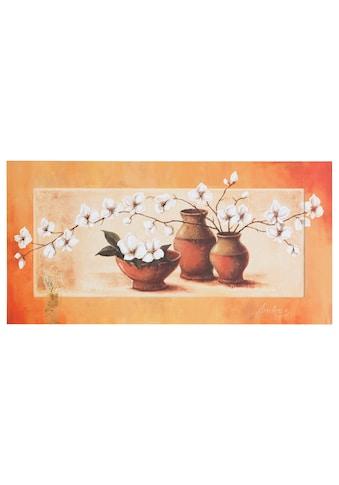 Home affaire Kunstdruck »S., A.: Weiße Kirschblüten in roten Vasen II«, 100/50 cm kaufen