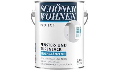 SCHÖNER WOHNEN-Kollektion Lack »Protect Fenster- und Türenlack«, hochglänzend, 2500 ml, weiß kaufen