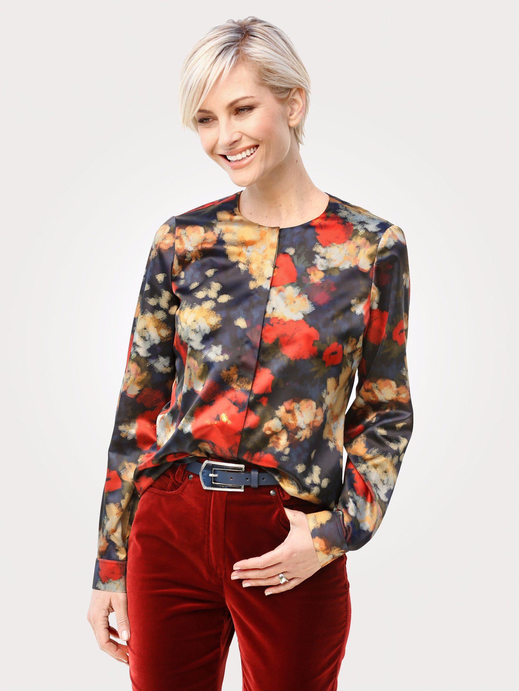 Mona Bluse mit abstraktem Blüten-Dessin