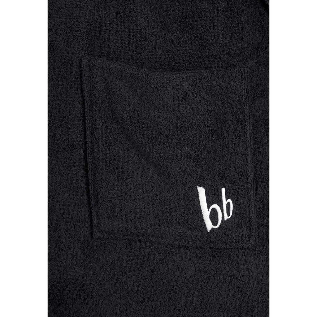 Bruno Banani Unisex-Bademantel »Robby«, mit »bb« Logostickerei