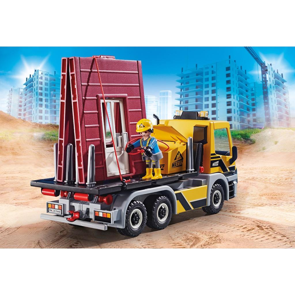 Playmobil® Konstruktions-Spielset »LKW mit Wechselaufbau (70444), City Action«, (104 St.), Made in Europe