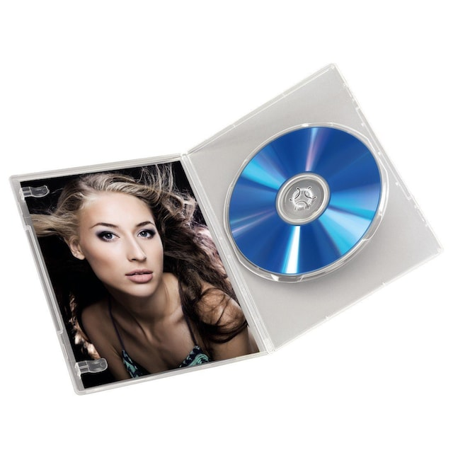 Hama DVD-Leerhülle Slim, 10er-Pack, Transparent