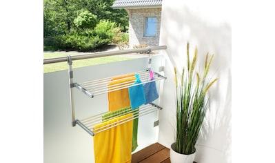 Ruco Balkonwäschetrockner, Aluminium/Kunststoff, 2 klappbare Böden kaufen