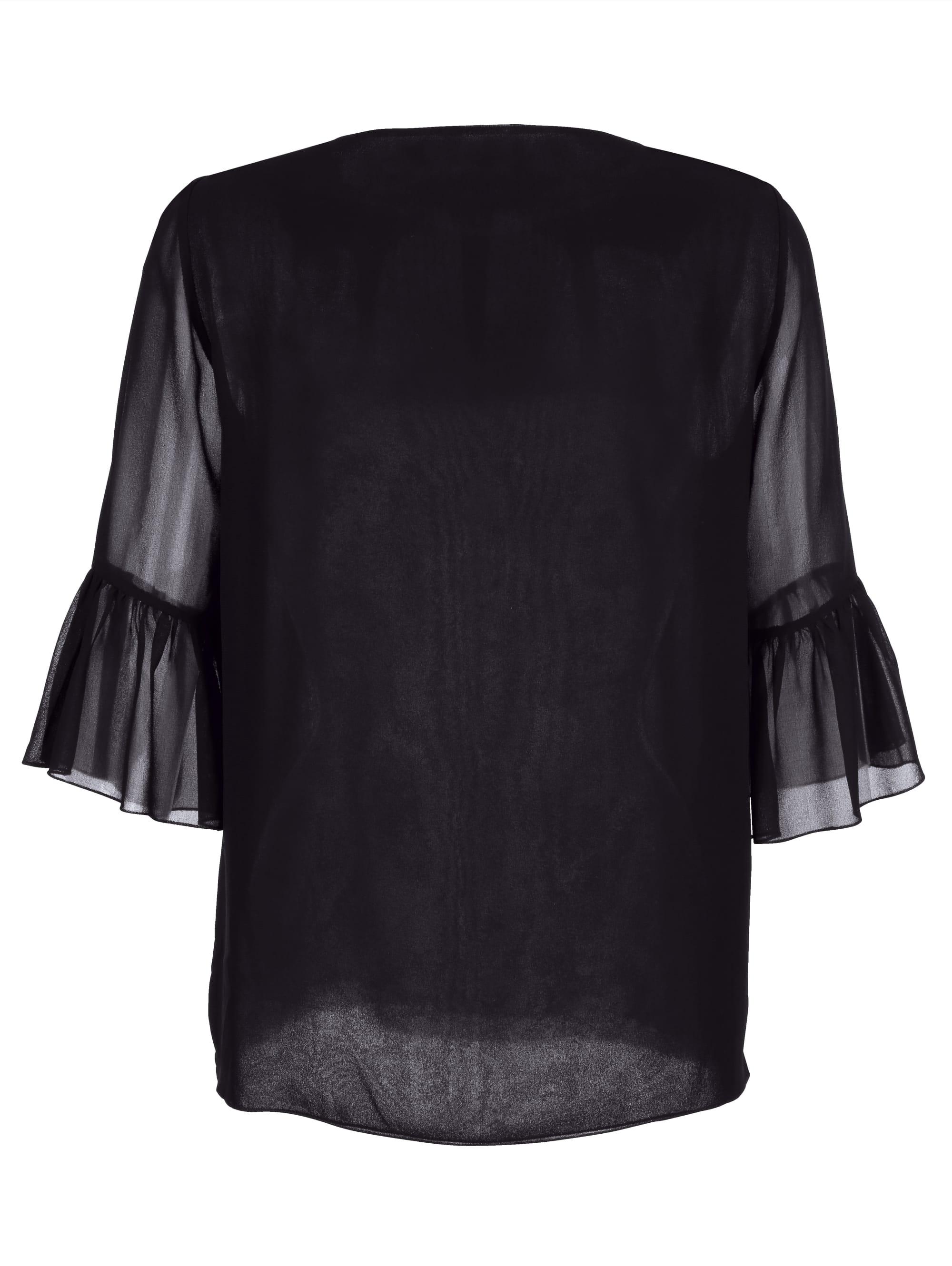 Alba Moda Bluse mit Perlenstickerei am Ausschnitt