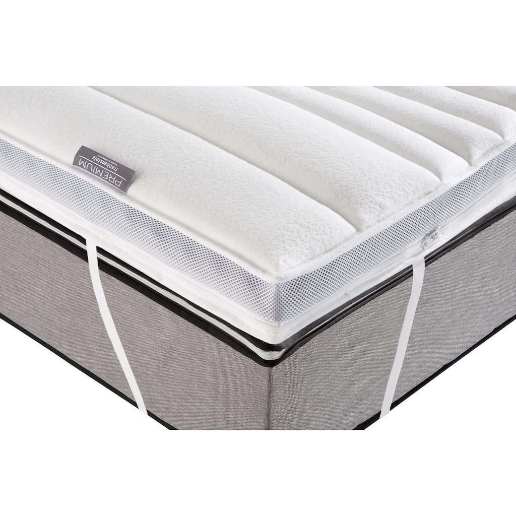 fan Schlafkomfort Exklusiv Topper »Premium«, (1 St.), vom Institut Hohenstein wurde der Bezug auf seine antibakterielle Wirkung ausgezeichnet*